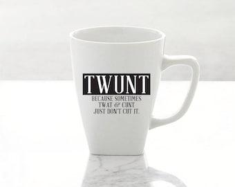 Vinyl Decal | TWUNT | Humor | Funny | Coffee Mug Decal | Sticker