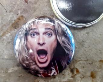 "Magnet or Pinback 2.25"" 58mm David Lee Roth Van Halen Diamond Dave 80s Button Fridge Magnet"