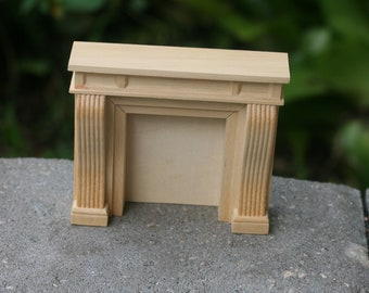 Dollhouse Miniature One Inch Scale 1:12 Victorian Fireplace Unfinished