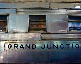 Train Decor, Train wall decor, Grand Junction Railroad, Industrial Wall Art, Train Art