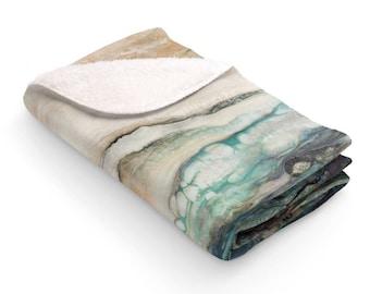 """Fleece Blanket """"Sea Scape"""""""