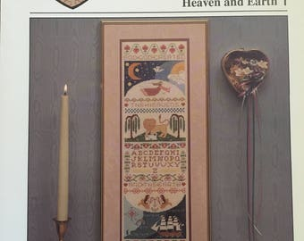 Heartstrings HEAVEN AND EARTH Arists Collection Pat Thode 1991 Vintage Counted Cross Stitch Chart Pattern Leaflet Booklet