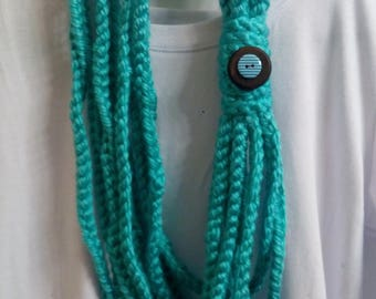 Hand Crocheted Scarf/Necklace