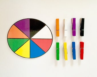 Color Wheel Matching Busy Bag Activity