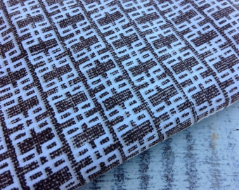 Modern Brown Fabric-Reclaimed Bed Linens-Mod Retro