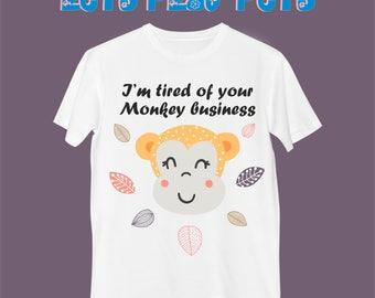 "T-Shirt ""Funny Brown Monkey"""
