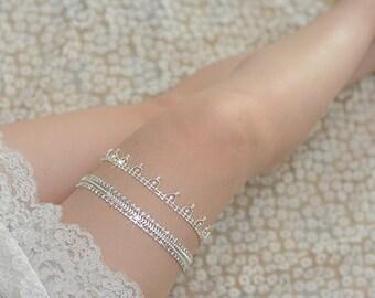 rhinestone bridal garter, crystal wedding garter, bride garter, vintage garter