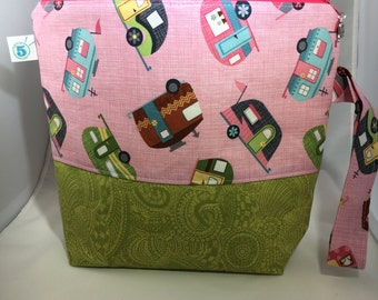 Zippered Knitting Crochet Craft Camper RV Camping Project Bag