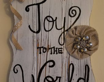 joy to the world sign, christmas decoration, Joy to the world, holiday decoration, holiday door decor, christmas door decor, joy sign