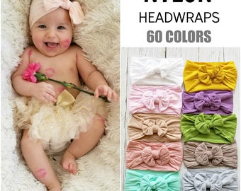 Baby Headbands, Baby Head wraps,Nylon Baby headbands, nylon headband, girls headbands, white baby headband, Infant toddler newborn headbands