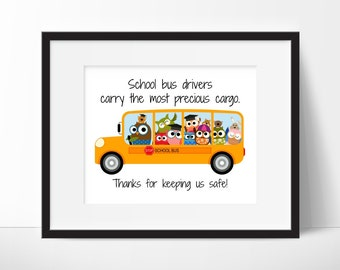 School Bus Driver Gift - School Gift - Bus Driver Appreciation - End of The Year Gift - Bus Driver Gift - School Bus - 8x10 Digital Download