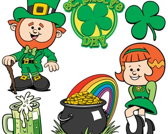 St.Patty's Day - These festive holiday cartoons are perfect for your St. Patty's Day project.