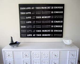 Word Art-This Love At This Moment Is Enough-Painting