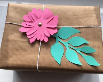 Zinnia Flower Gift Topper