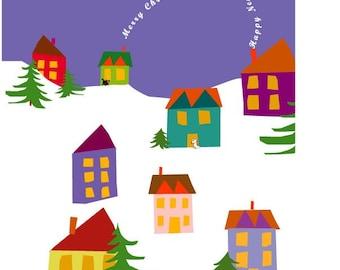 greeting cards winter village
