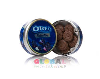 Dollhouse Miniatures OREO Chocolate Cookies in a Box