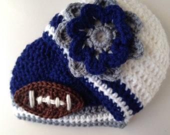Twins Dallas Cowboys Baby Beanie Set Football Team Beanie photo prop crochet beanie boy/girl twins hat (choose team)