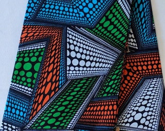 Multicoloured Ankara fabric, African Wax Cotton fabric, African Wax Print, African Print, African Ankara, sold by the yard