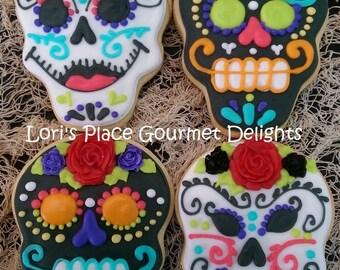 Dia Los Muertos Cookies - Day of the dead Cookies - 12 Cookies