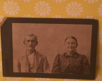 Vintage Grandma and grandpa photo