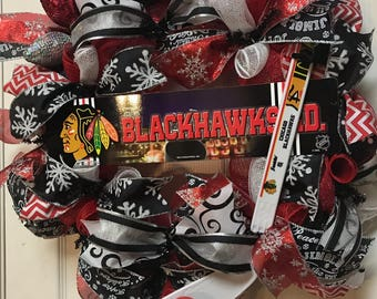 Chicago Blackhawks Christmas/ Holiday Wreath