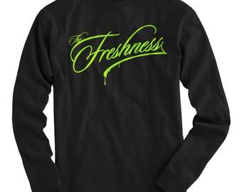 LS The Freshness Tee - Long Sleeve T-shirt - Men S M L XL 2x 3x 4x - Fresh, Street Art, Graffiti - 3 Colors
