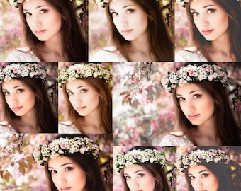 Spring Summer Lightroom Presets Collection of 50 Lightroom Outdoor Portrait Presets