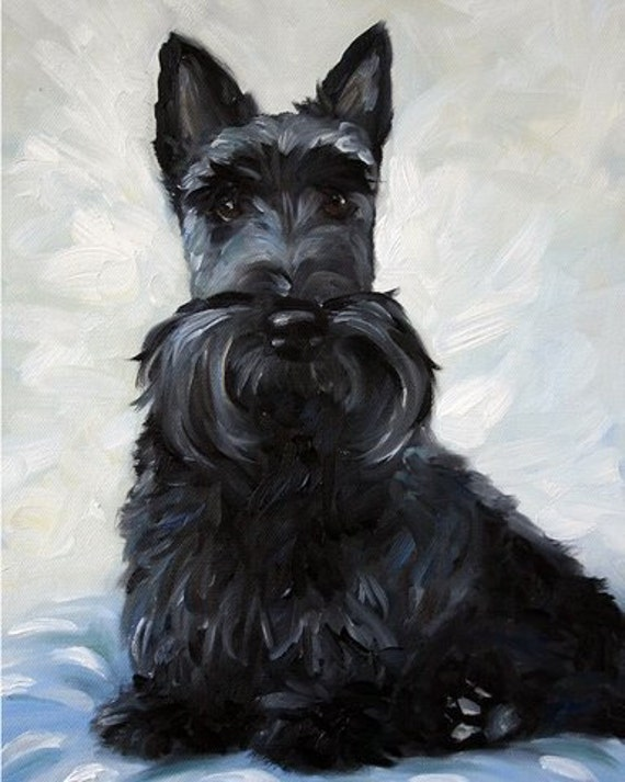 scottish terrier don t print black scottish terrier scottie dog art print oil 7328