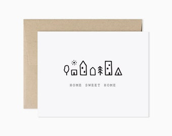 Home sweet home card | New home card | We moved card | Housewarming card | GCF17