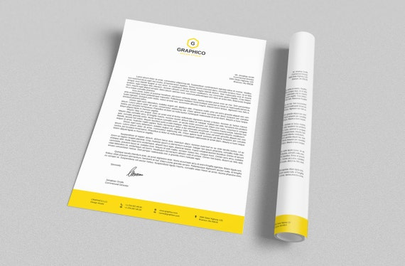 Corporate letterhead design template adobe illustrator spiritdancerdesigns Images