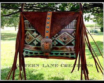 Purse handbag southwest navajo fringe