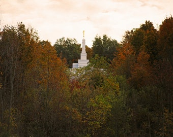 In The Midst    Palmyra New York Temple    McKee Photography    Spire    Trees