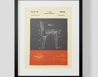 Mid Century Modern Eames Chair Drawings  Figure 1
