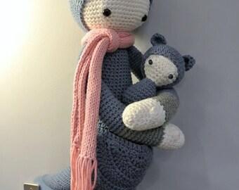 Kira the Crochet Kangaroo Amigurumi by Lalylala - Handmade Crochet Amigurumi Toy Doll - Kangaroo Crochet - Amigurumi Kangaroo