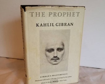 The Prophet, Kahlil Gibran, Hardcover Book, Illustrated, 1970 edition, hardback, prose poetry, Lebanese Literature, spiritual guidance