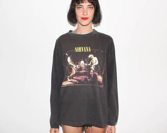 1996 Nirvana From The Muddy Banks Of Wishkah 90s LONG SLEEVE T Shirt