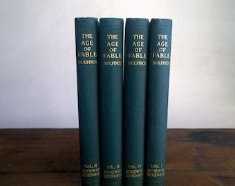 "Bullfinch's Mythology ""The Age of Fable"" - Set of Four 1913 Books"