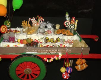 """Miniature Dolls House in scale 1:12 """"the Fair of Sweets"""""""