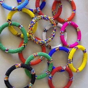 African Beaded Maasai Bangles  African Jewelry For women  Maasai Jewelry  Wholesale Beaded Bracelets  Zulu Bangles, African Gift Ideas