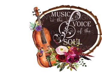 Music is the Voice of the Soul Sublimation Transfer, Music, Sublimation Transfer