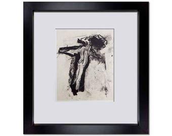 Willem De Kooning Original Lithograph 1988 w/Custom Frame