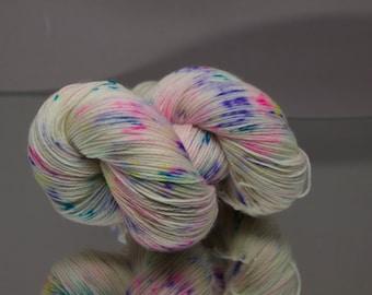 Hand dyed sock yarn - Cake Sprinkles - Superwash Merino/Nylon blend 4-ply