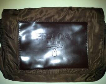 PRADA handbag-Big soft CLUTCH years ' 80