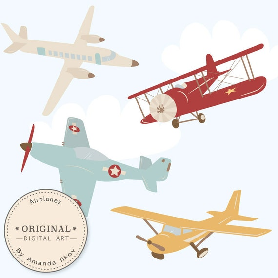 professional airplane clipart airlplane vectors airplane rh etsy com old fashioned airplane clipart red vintage airplane clipart