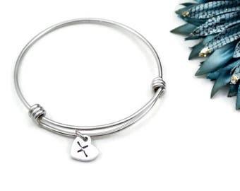 Heartbeat Hand Stamped Expandable Bracelet   EKG Jewelry   Heartbeat Jewelry   Heartbeat Bracelet   Anniversary Gift For Her Charm Bracelet