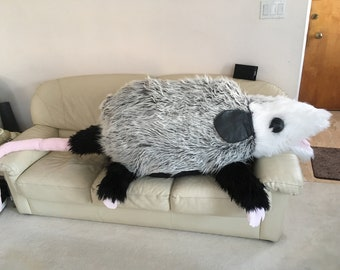 gigantic N I N E foot plush possum
