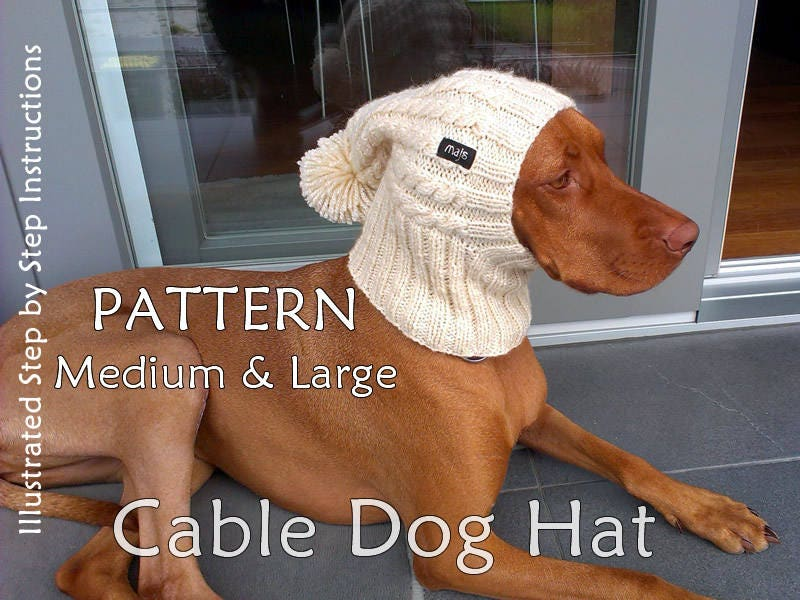 Dog Hat Knit Pattern Cable Dog Hat Knit Pattern Beanie Dog Hat