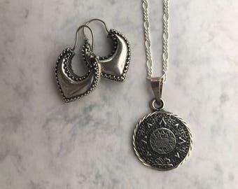 Mexican Aztec silver coin