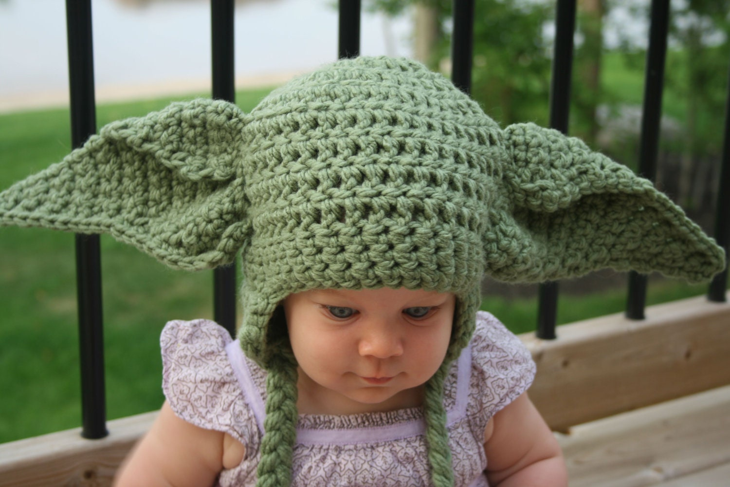 Yoda inspired hat crochet pattern newborn toddler child zoom bankloansurffo Choice Image