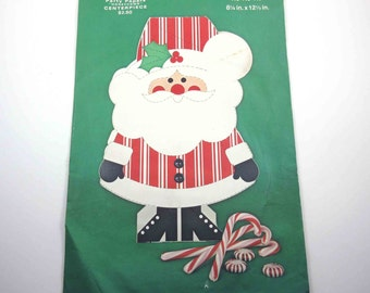 Vintage Unused Christmas Centerpiece Santa Claus with Honeycomb by Gibson Greeting Cards NOS